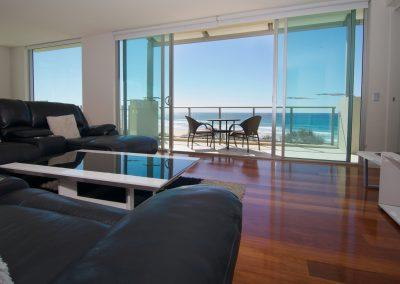 Penthouse 303 Living Room to Balcony