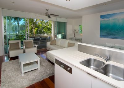 2 Bedroom Pool View Kitchen / Living Room
