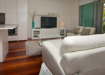 2 Bedroom Pool View Living Room